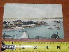 Antique 1908 Stonington ME Maine Harbor Postcard West Brooklin Boston Germany