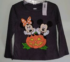 9084392fd2964a Old Navy Girls 2T Long Sleeve MINNIE   MICKEY Disney Halloween Party Tee T- Shirt