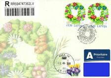 Latvia 2019 (09) Summer Solstice Celebration Wreath - Flowers (fdc)