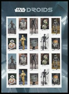 US 5582b Star Wars Droids imperf NDC sheet MNH 2021