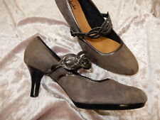 SOFFT 8.5 M taupe nubuck leather pumps mary jane shoes size 8.5 NWOB