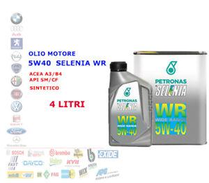 OLIO MOTORE AUTO DIESEL SELENIA WR 5W40 4 LT ACEA A3/B4 API SM/CF SYNT