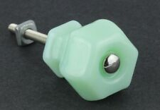 Glass Knobs Jadeite Green Milk Glass Drawer Pulls Vintage Antique Style Hardware