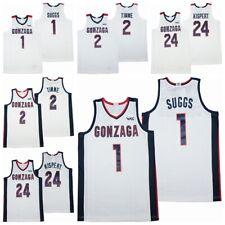 New #1 Jalen Suggs #2 Drew Timme #24 Corey Kispert Gonzaga Basketball Jersey