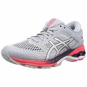 ASICS Running Shoes LADY GEL-KAYANO 26 Gray Silver 1012A457 US8.5(25.5cm)