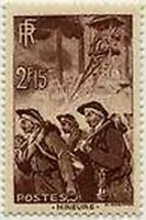 "FRANCE STAMP TIMBRE N° 390 "" MINEURS ""NEUF x TB"