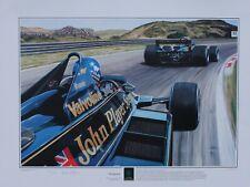 """Wingman, Ronnie Peterson chasing Mario Andretti, Lotus 79 at Zandvoort"