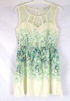 LC Lauren Conrad Women Fit Flare Sleeveless Dress Sz 12 Floral Summer CB84G