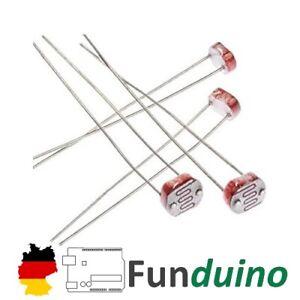 5x Fotowiderstand LDR für Arduino/Funduino/Raspberry Pi Mikrocontroller