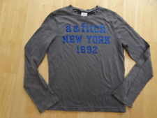 ABERCROMBIE & FITCH KIDS boys grey blue long sleeve top AGE 5 - 6 YEARS