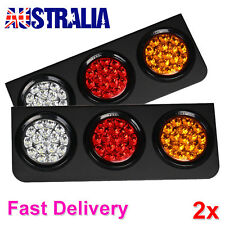 2X LED TAIL LIGHT TRUCK UTE TRAILER STOP INDICATOR LIGHTS 24V WATERPROOF PLUS