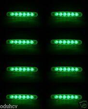 8 piezas 12V 6 LED Intermitente Lateral Verde Luces para Volvo Iveco Man Daf