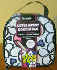 Fit & Fresh Kids Little Artist Doodle Insulated Lunch Bag w/ Permanent Markers