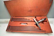 Starrett Depth Micrometer Set 0-9 Inches No. 445 (Inv.33499)