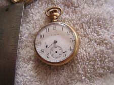 Antique Elgin Ladies Pocket Watch Safety Pinion