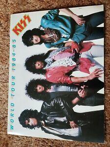 RARE Tour Programme Kiss World Tour + Ticket 1984-85