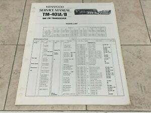 Kenwood TM-401A/B Service Manual