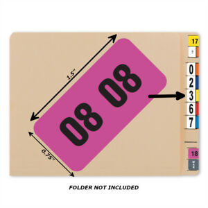 Bar Tab Labels 500 Color Coded Bar-Style Labels For File Folder End Tabs - Year