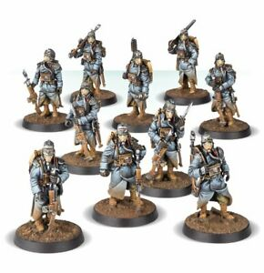 Infantry Squad At Ease painted figure Warhammer 40k Pre-Sale | Art level