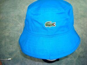 LACOSTE BLUE BUCKET HAT