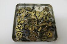 188 Grams~Steampunk*Crafts*Al tered Art*Asst Clock Parts~Brass Gears~Rods~Springs