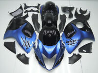 ABS Fairings Bodywork Kit fit 08-18 Suzuki GSXR1300 Hayabusa Metallic Blue