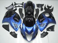 ABS Fairings Bodywork Kit fit 08-18 Suzuki GSXR1300 Hayabusa Metallic Blue