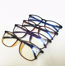 Fashion Square Frame Candy Colors Blue light Filter Reading Glasses Readers~+4.0