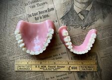 Vintage Dentures UPPER & LOWER full set false teeth