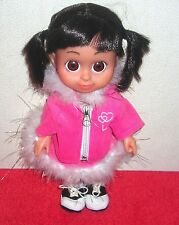 """DISNEY MONSTERS INC. BABBLIN' BABY BOO 12"""" HARD PLASTIC DOLL TOY SPECIAL OUTFIT"""
