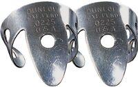 A Pair of Dunlop 33R.0225 Nickel Silver Finger Picks .0225 (2 Picks)