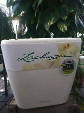 Lechuza QUADRO 50 LS Premium Weiß Hochglanz Komplettset  mit Rolluntersetzer