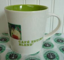 2005 STARBUCKS CAFE ESTIMA MULTI-REGION BLEND COFFEE MUG MINT!