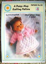 Dolls knitting pattern for a 16 -18 inch doll No 252 by Daisy-May