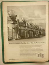 12/1960 PUB SPERRY US NAVY TERRIER MISSILE SPG-55 MISSILE GUIDANCE RADAR AD