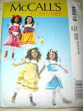 McCall's 6619 Children's Aprons, Headpiece and Wand Costume Pattern Kids 3-8
