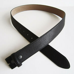 Men Synthetic Leather Belt Black Polyurethane Leather Belt Snap On Belt Gurtel