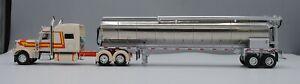 DCP TAN/ORANGE PETERBILT 389 70 SLEEPER WALINGA FEED TRAILER 1/64 60-0668