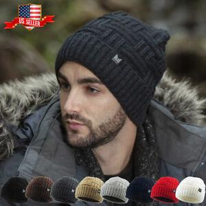 Basket Weave Knit Winter Beanie Ski Hat Skull Cap Cold Slouch Cap