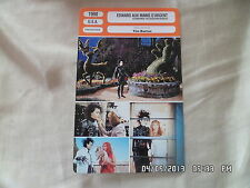 CARTE FICHE CINEMA 1990 EDWARD AUX MAINS D'ARGENT Johnny Depp Winona Ryder Wiest