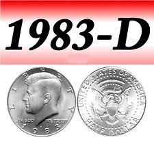 1983-D KENNEDY BRIGHT UNCIRCULATED HALF DOLLAR===BU===C/N===