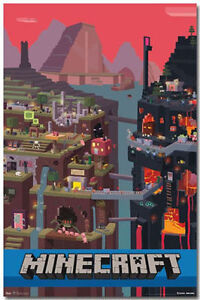 MINECRAFT - CUBE  VIDEO GAME POSTER - 22x34 SHRINK WRAPPED - 6014
