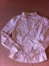 Oasis Blouse Size 14 Cream Embroidery Floral