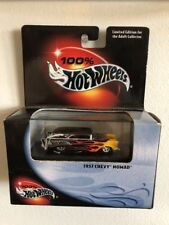 2000 Hot Wheels 1957 CHEVY NOMAD WITH FLAMES 100% BLACK BOX  1:64 DIE-CAST