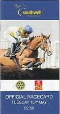 Racecard - Southwell 15th May 2012