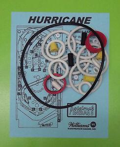 1991 Williams Hurricane pinball rubber ring kit