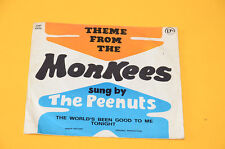 "THE PEENUTS 7"" THEME FROM THE MONKEES ORIG ITALY PRESS SOLO COPERTINA  SENZA DIS"