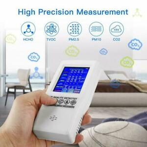 Air Quality Monitor Formaldehyde HCHO TVOC PM2.5 PM10 CO2 LCD Digital Detector