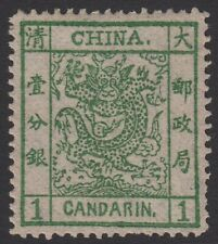 [CH838] CHINA - 1878 - LARGE DRAGON- THIN PAPER - 1Cd - MINT NEVER HINGED