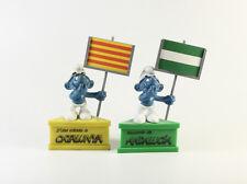 Schlumpf Schlümpfe === 4.0208 === Sockel Schleich Andalucia + Catalunya Werbung